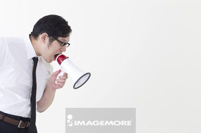 男性,肥胖,生气,吼叫,