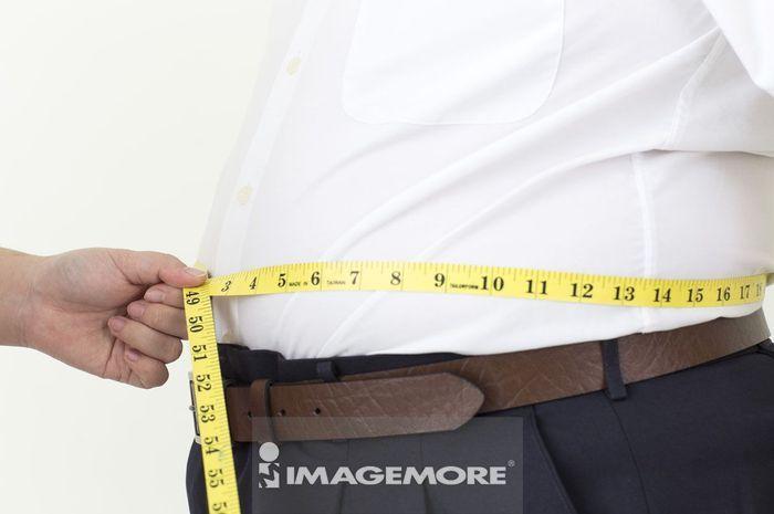 男性,测量,腰围,