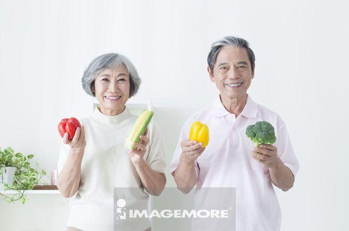 老年夫妻,厨房,家事,
