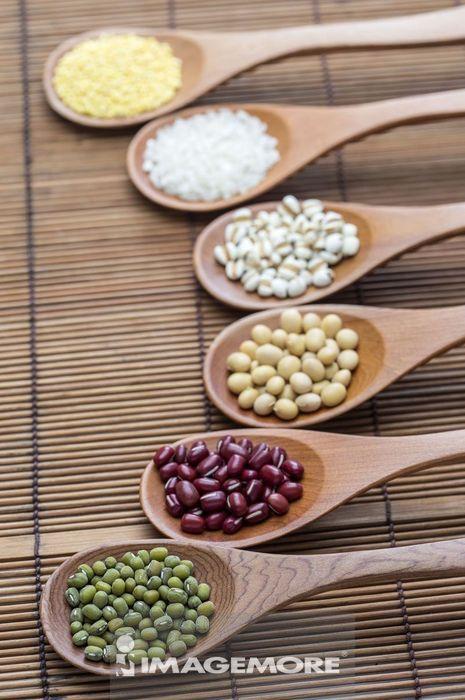 绿豆 红豆 黄豆 稻米 小米 薏仁