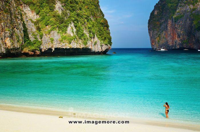 Tropical beach, Maya Bay, Andaman Sea, Thailand