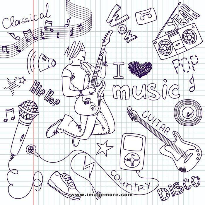 mp3播放器,音乐,聚会,玩,收音机,废弃,素描,声音,喇叭,星星,荡秋千