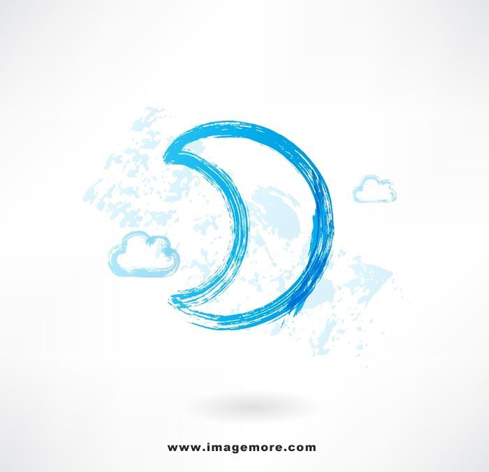 moon grunge icon