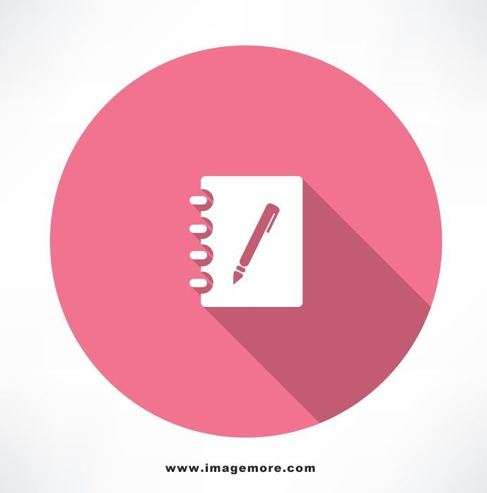note and pen icon. flat modern style vector illustration