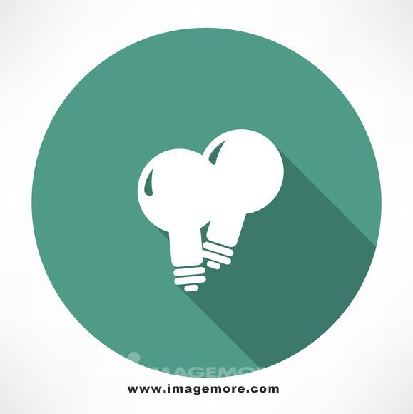 two lamp icon. flat modern style vector illustration