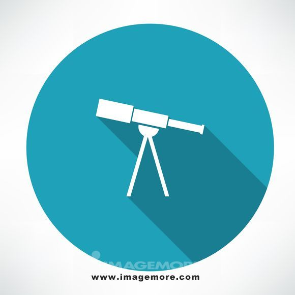telescope icon. flat modern style vector illustration