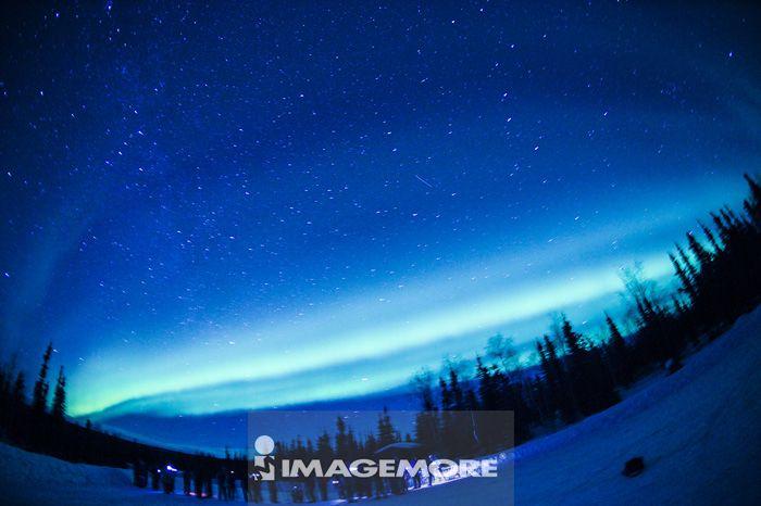 美国,阿拉斯加,北极圈,极光,