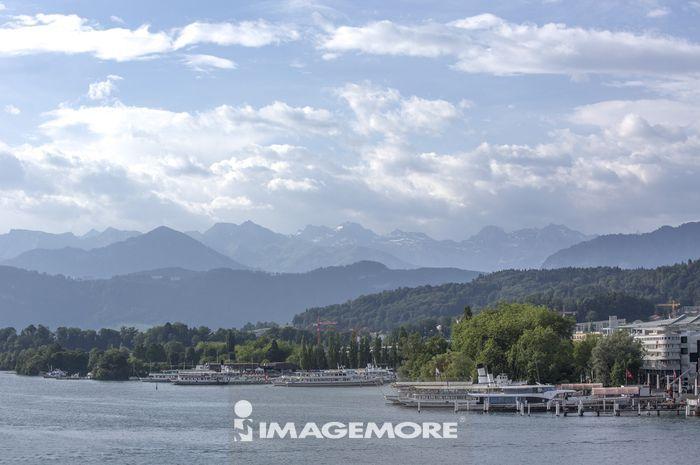 琉森,瑞士,欧洲,琉森湖,湖泊,