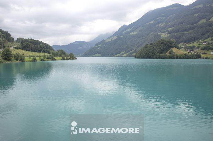 琉森,瑞士,欧洲,少女峰,布里恩茨湖,湖泊,