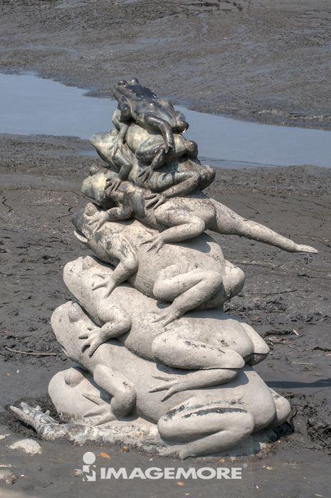 雕像,青蛙,日月潭九蛙,