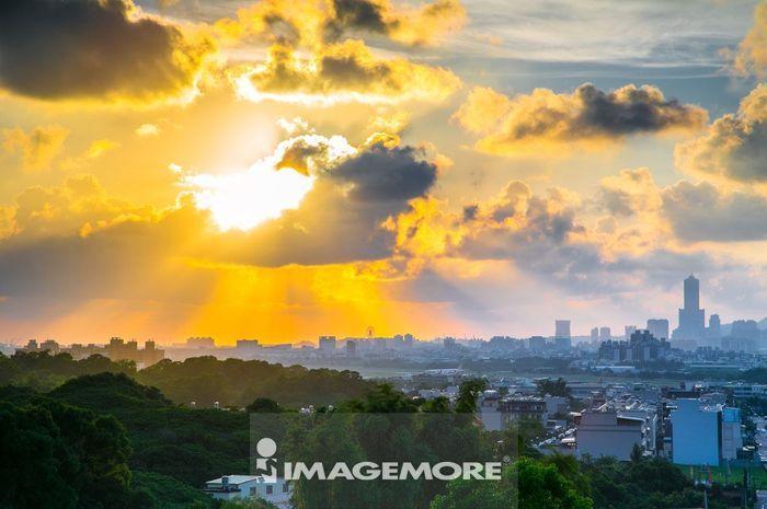 亚洲,台湾,高雄,小港区,日落,