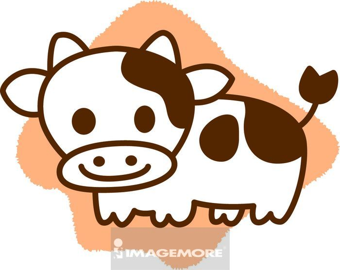 卡通,插画,画画,绘画,生肖,十二生肖,牛年,新年,春节,过年,动物,动物