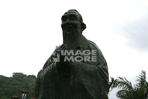 The Confucius statue outside the  Palace Museum, Taipei, Taiwan