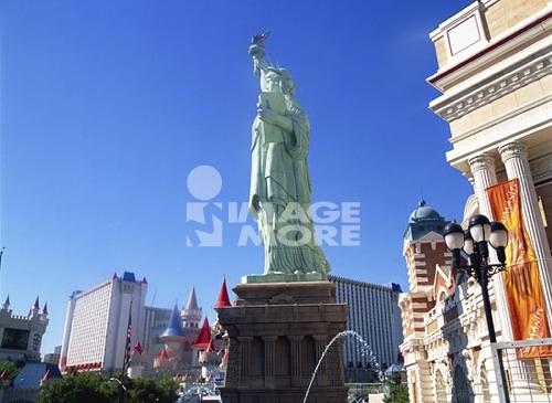 New York New York Hotel & Excalibur Hotel, Las Vegas, Nevada, USA