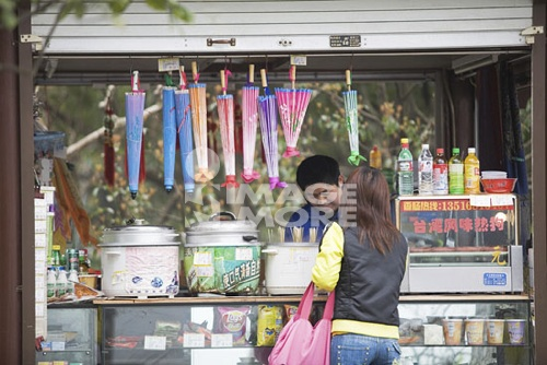 A souvenir shop at  Lake in the lake, Santanyinyue at West Lake, Hangzhou, China