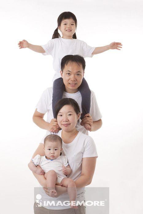 二个孩子的家庭,全家福