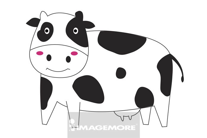 插画,插画和绘画,向量,计算机绘图,无人,彩图,图案,生肖,牛,牛年,卡通