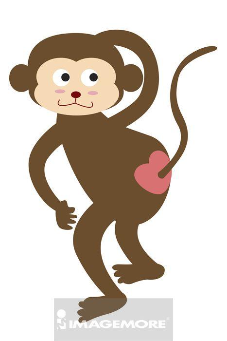 猴子可爱动态带字图片