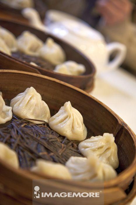 小笼包,包子,松针,食物,上海,中国,亚洲