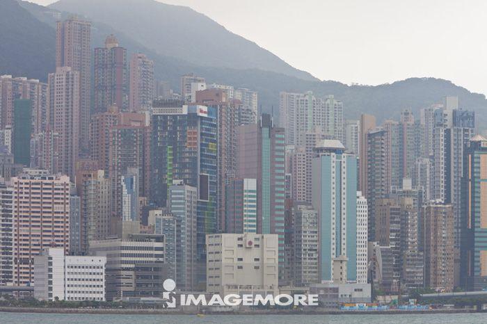 亚洲,香港,城市远景,维多利亚港,