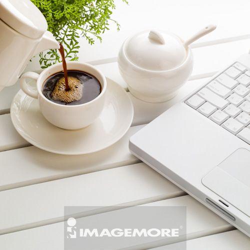 咖啡,茶具,笔记型计算机
