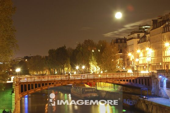 欧洲,巴黎,市区,夜景