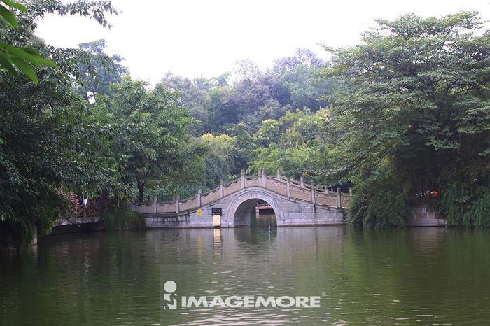 中国,四川省,成都,文化公园,桥,湖水