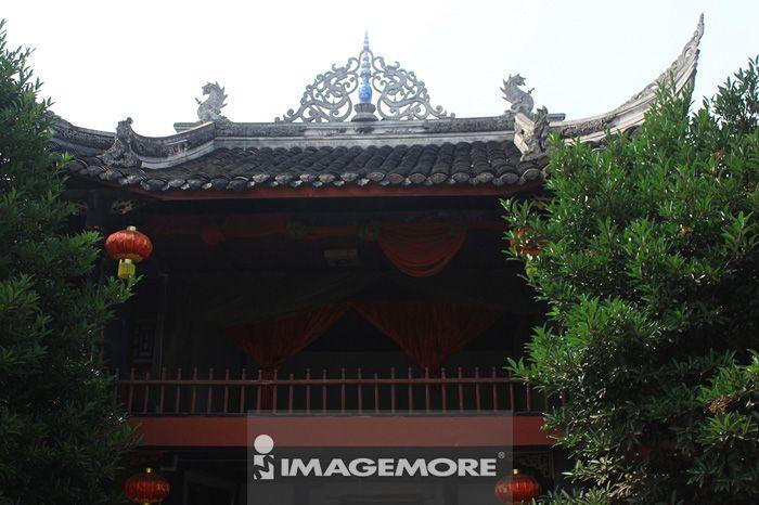 中国,四川省,成都,龙泉驿,洛带,旅游景点,古镇,老街,戏楼,戏台,院落,古建筑