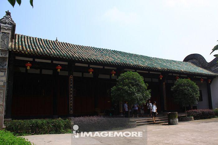中国,四川省,成都,龙泉驿,洛带,旅游景点,古镇,老街,广东会馆,院落,古建筑