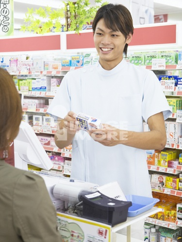 A drugstore clerk