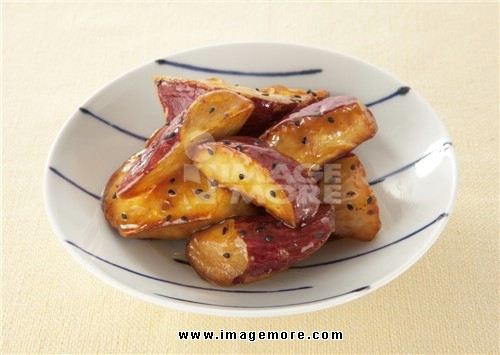 Deep fried sweet potato