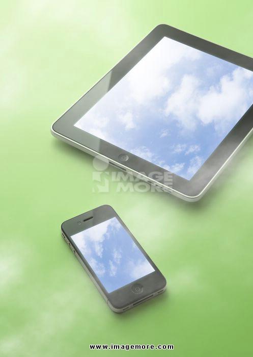 Smart medias with blue sky display