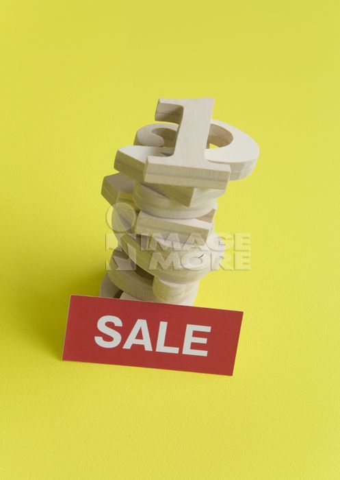 """Pile of numbers and a word """"SALE"""""""