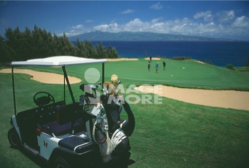 Golf course, USA, Hawaii, Maui, Kapalua Plantation