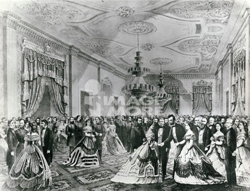 Grand Reception of the Notabilities of the Nation at the White House, 1865 Major & Knapp