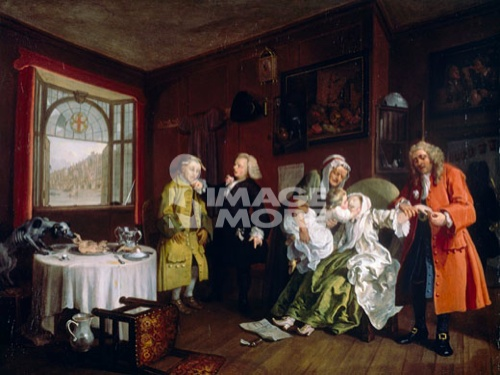 Marriage a la Mode: Death of the Countess William Hogarth (1697-1764/British)  Oil on canvas   Gallery, London