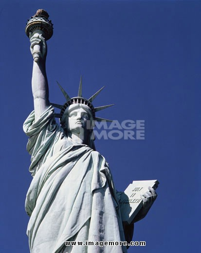 Low angle view of a statue, Statue of Liberty, New York City, New York, USA