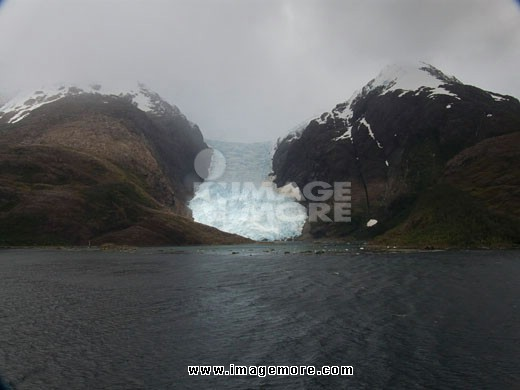 Fjord with mountains, Alsina Glacier, Patagonia, Chile