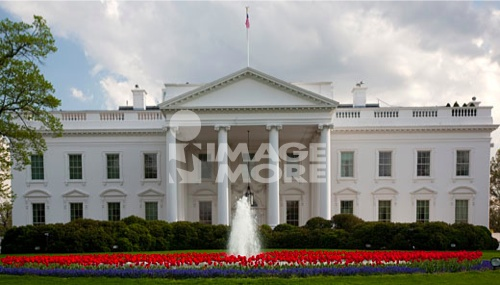 Facade of a government building, White House, Washington DC, USA