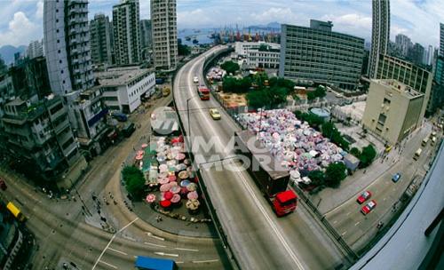 Aerial view of a city, Hong Kong, China