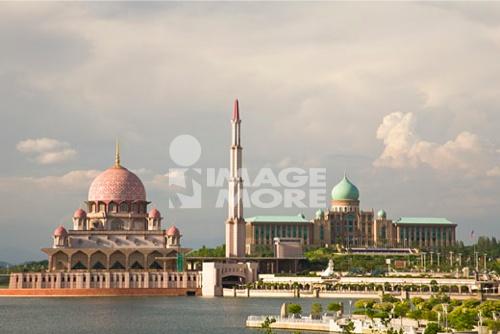new model city of government buildings-Putra Jaya within the capital city of Kuala Lumpur Malaysia Peninsula Malaysia SE Asia