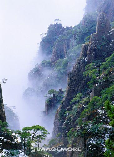 中国,安徽省,黄山,西海大峡谷,冬天