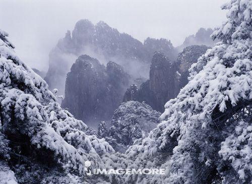中国,安徽省,黄山,北海,冬天
