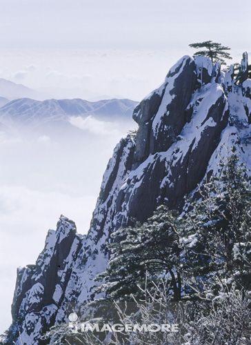 中国,安徽省,黄山,冬天